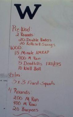 Crossfit WOD RX for men 185 women 135