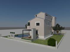 Vista da est-nord-est del modello 3d - Massimo Rinaldo architetto