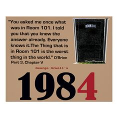 1984 O'Brien explains Room 101 Poster