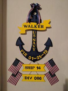 Go Navy, Navy Mom, Navy Boot Camp Graduation, Military Home Decor, Navy Ranks, Deployment Party, Navy Boots, Navy Life, Navy Anchor