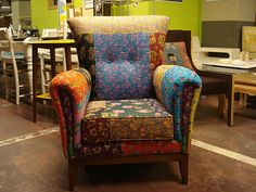 Lovely patchwork armchair by Atolye Afra