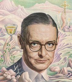 Writer T. S. Eliot. 1950 TIME cover art by Boris Artzybasheff