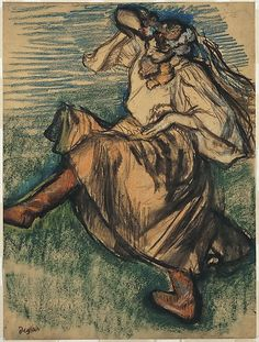 Edgar Degas (French, 1834–1917). Russian Dancer, 1899. The Metropolitan Museum of Art, New York. H. O. Havemeyer Collection, Bequest of Mrs. H. O. Havemeyer, 1929 (29.100.556) #dance