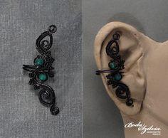 Black leaves ear cuff