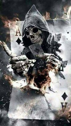 Creepy Art by Mariano Villalba Would make an awesome tattoo. Dark Fantasy Art, Fantasy Kunst, Dark Art, Skull Tattoos, Body Art Tattoos, Art Sinistre, Grim Reaper Art, Grim Reaper Tattoo, Street Art