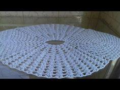 Toalha - Tapetes - Com Pontos Colmeia em Crochê -1 Parte - Cristina Coelho Alves - YouTube