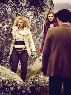 River holding a cyberman's head, and looking fabulous as always.