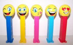 New Release 2016 Pez Dispenser~~Emoji's~~Set of 5~~Mint in Bags.-. #bags #dispenseremojisset #release