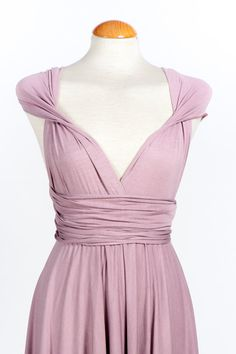 Convertible mauve dress. Hey, I found this really awesome Etsy listing at https://www.etsy.com/listing/197134458/lavender-ready-to-ship-infinity-dress