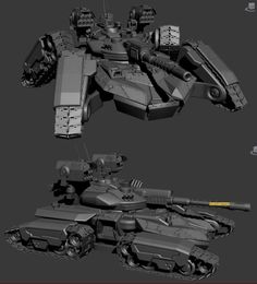 "Siege tank was created for game ""Total Domination"" Plarium Spaceship Art, Spaceship Concept, Weapon Concept Art, Armor Concept, Concept Ships, Army Vehicles, Armored Vehicles, Future Weapons, Sci Fi Ships"