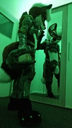 This will probably be me when I make my halo armor and fur suit. I would want to water both of them at the tame time. XD