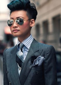 This is why I want a suit. Esther Quek by bof352000, via Flickr