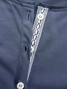 lace to button placket