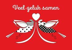 Veel geluk samen (© KaartjeVanDaan) http://www.kaartjevandaan.nl