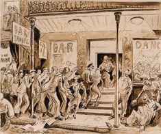 ART & ARTISTS: Thomas Hart Benton - part 4 WWII American Realism, American Artists, Submarine Museum, Grant Wood, Printmaking, Wwii, Illustrators, Oil On Canvas, Modern Art