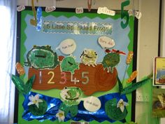 Five Little Speckled Frogs classroom display photo - Photo gallery - SparkleBox Preschool Displays, Classroom Wall Displays, Teaching Displays, Class Displays, Classroom Ideas, Eyfs Activities, Nursery Activities, Spring Activities, Maths Eyfs