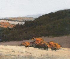 Marc Bohne . Cascade Foothills in Winter . oil on panel, 6 x 7""
