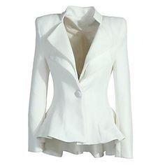 WeiMeiJia®+Women's+Lapel+Neck+All+Matching+Solid+Color+Overcoat+–+EUR+€+16.65