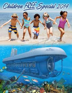 2014 Summer Special - Children Dive FREE For every 2 paying adults, 1 Child (under 12) is entitled to Dive FREE*.  * Transfer fees ($15) are applicable on free children.