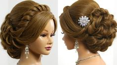 Beautiful hair style for prom or a wedding