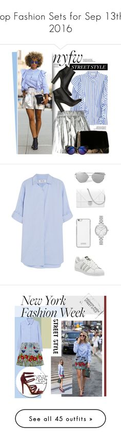 """""""Top Fashion Sets for Sep 13th, 2016"""" by polyvore ❤ liked on Polyvore featuring M Missoni, Sergio Rossi, Gianvito Rossi, StreetStyle, NYFW, M.i.h Jeans, adidas, Kate Spade, white and Blue"""