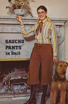 1970's Fashions From the Workbasket: Gaucho Pants in Knit by The Pie Shops, via Flickr
