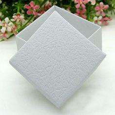 Elegant Embossed Sqaure Favor Boxes - Set of 12 – USD $ 4.99