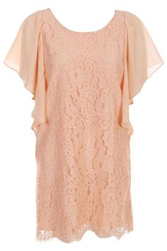 Flouncing Lace Crochet Orange Dress #ROMWE