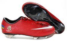 Nike Mercurial 2012 Vapor VIII FG Euro 2012 Soccer Cleats Red White