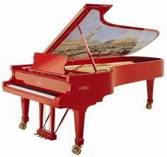 a beautiful red piano  http://pinterest.com/cameronpiano