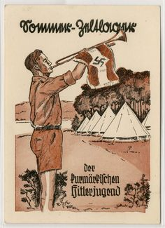 : Picture postcards and topics Third Reich Propaganda, Organisations, HJ Nazi Propaganda, The Third Reich, Picture Postcards, World War Ii, Vintage Posters, Wwii, Vintage World Maps, German, Flyers
