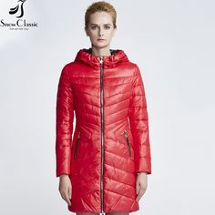 Cheap jacket parka, Buy Quality parka female directly from China warm jacket Suppliers: Snow Classic Womens Jacket Hooded Jacket Thick Long Jacket Parka Female high quality warm Jacket Coat Solid Clearance 2017 Winter Jackets Women, Coats For Women, Anorak, Womens Parka, Women Sleeve, Long Jackets, Latest Fashion For Women, Hooded Jacket, Ideias Fashion