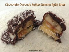 Chocolate Coconut Butter Banana Split Bites {Guest Post at The Coconut Mama}