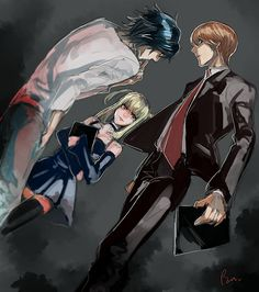Lawliet, Misa y Light