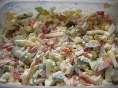 Sýrový salát Ketogenic Recipes, Diet Recipes, Vegan Recipes, Cooking Tips, Cooking Recipes, Top Recipes, Keto Dinner, Bon Appetit, Pasta Salad