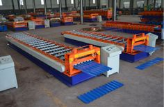 What we can design and manufacture are metal roof panel roll forming machine, metal wall panel roll forming machine, roof tile roll forming machine, ridge cape roll forming machine, double layer roll forming machine, three layer roll forming machine, sandwich panel production line, gypsum board profile