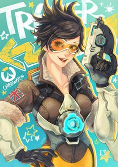 Tracer - More at https://pinterest.com/supergirlsart/ #overwatch #pretty #beauty #fanart