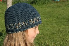 Adult Or Child Blues Hat By Vallieskids - Free Crochet Pattern - (vallieskids.blogspot)
