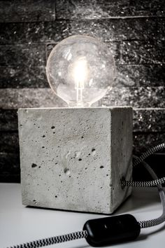 DIY: beton lamp