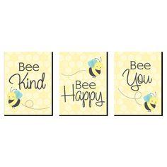 Kids Room Wall Art, Nursery Wall Art, Nursery Prints, Honey Bee Kids, Honey Bees, Bee Crafts For Kids, Bee Nursery, Big Dot Of Happiness, Bee Art
