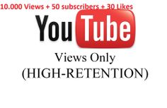 snyperul: give 10000 Hight Retation views and 50 Subscriber for $5, on fiverr.com