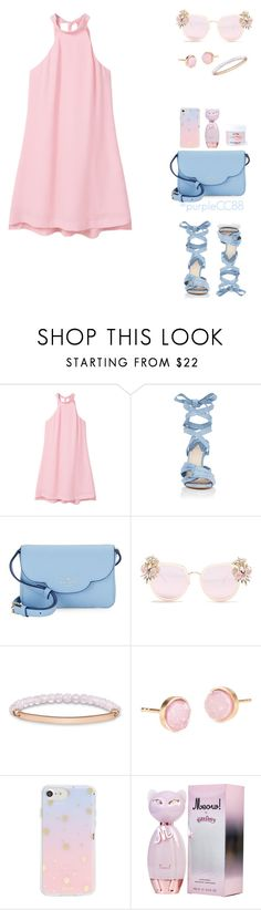 """""""Pinky and Fashion"""" by purplecc88criss ❤ liked on Polyvore featuring MANGO, Altuzarra, Kate Spade, Cara Accessories, Thomas Sabo, Pernille Corydon, Sonix and Sugar Milk Co"""
