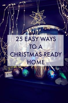 25 Easy Ways to a Christmas Ready Home - check out this brilliant post on loads of ideas, tips and inspiration on getting your home ready for the holidays. Christmas Countdown, Christmas Love, Beautiful Christmas, Christmas Ornaments, Christmas Crafts, Christmas Decorations For The Home, Christmas Table Settings, Christmas Tables, Holiday Decorating