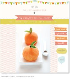 Sorbet Blog + Web Kit: sample blog design page using kit elements, $45...this may be the way to go. {Dear Miss Modern Design Shop}
