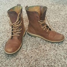 Clark brown authentic boots Clark brown boots only worn a few times, wear and tear shown in pics. Very awesome boots don't wanna get rid of them but I'm moving and need to clean out my closet! Clarks Shoes Ankle Boots & Booties