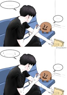 ohh the crying cookies is really cute iloved >>BTS Bts Chibi, Bts Suga, Bts Bangtan Boy, K Pop, Bts Memes, Bts Drawings, Bts Fans, Kpop Fanart, I Love Bts