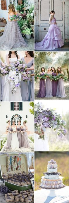 lavender wedding color ideas- purple wedding ideas and themes