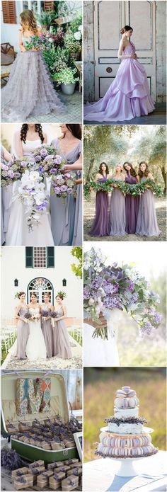 lavender wedding color ideas- purple wedding ideas and themes