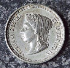 ANTIQUE 1887 QUEEN VICTORIA GOLDEN JUBILEE MEDAL