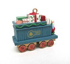 Train Gift Car Hallmark Ornament in Box 1991 by worldvintage